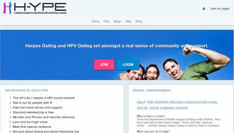 Code for herpes on dating sites