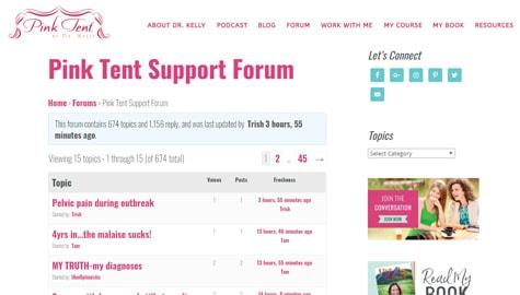 Pink Tent Support Forum